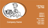 Orange Carpet Cleaning Business Card Template